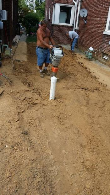 Backfill and tamp