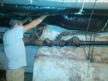 Before Sewer & Drain Line Replacement in York, PA