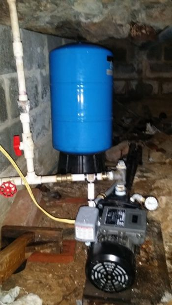 Well pump and pressure tank install